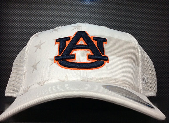 Auburn Tigers Top Of The NCAA Sub Flag Trucker WHT
