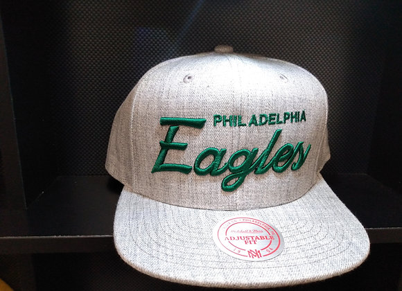 NFL HEATHER GREY PHILIDEPHIA EAGLES MITCHELL & NESS SNAPBACK