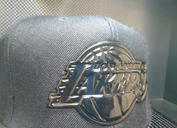 NBA BLACKED OUT LOS ANGELES LAKERS MITCHELL & NESS SNAPBACK