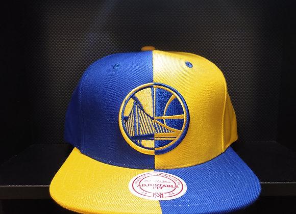 NBA 4 WAY SPLIT GOLDEN STATE WARRIORS SNAPBACK MITCHELL AND NESS