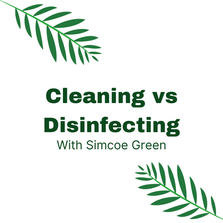 Why do we need to clean then disinfect???