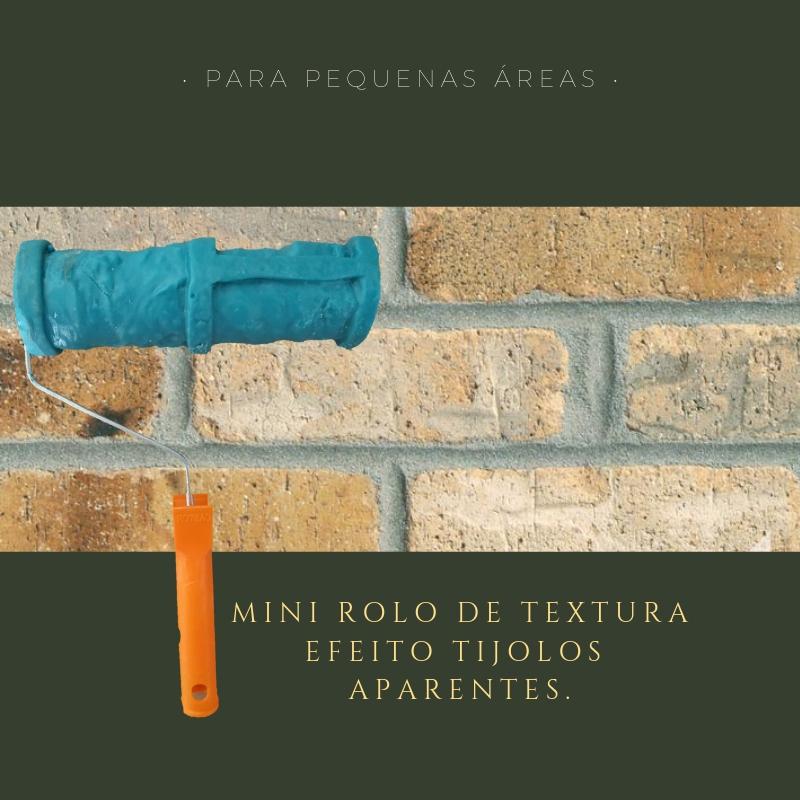 Rolo De Textura Efeito Tijolo Artesanal Rolos De Texturas Especiais