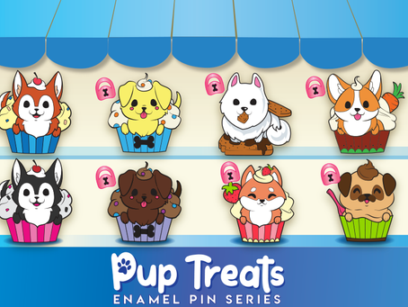 Pup Treats Enamel Pins: Going on Now!