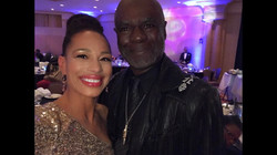 Cheray O'Neal and Sir Glynn Turman at th