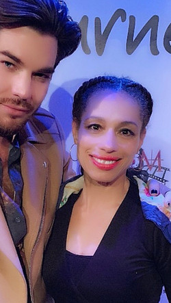 Adam Lambert and cheray O'Neal at the cl