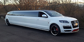 Side view of the White Audi Limousine stretch during a wine tour charter service in the Perth Swan Valley
