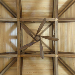 Cupola with Exposed Framing and Ceiling Fan