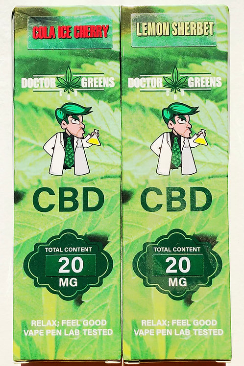 Doctor Green's Disposable CBD Vape Pen 20mg