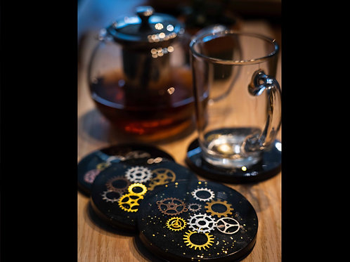 Steampunk Ashtray & Coaster Set