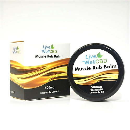 LVWELL CBD Full Spectrum Muscle Rub Balm