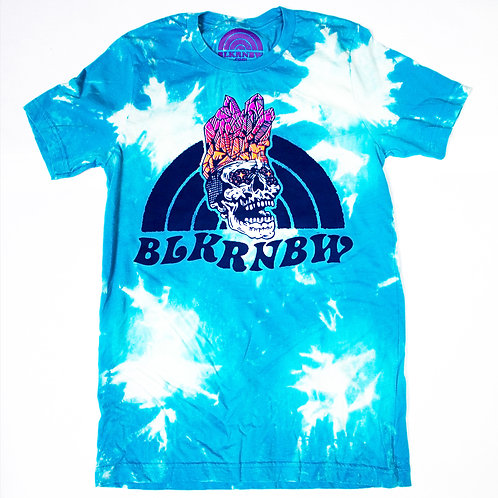 BLKRNBW Crystal Skull Sky-Dye Shirt