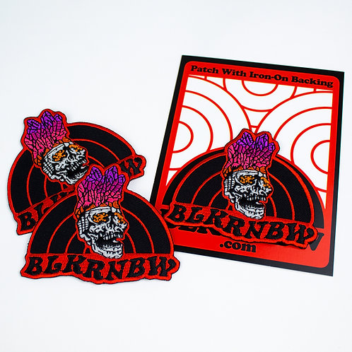 BLKRNBW Crystal Skull Patch