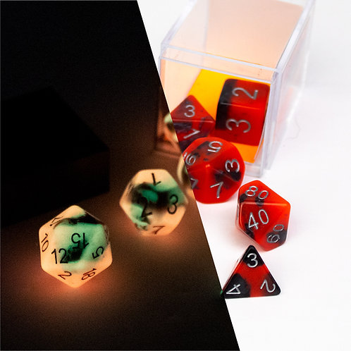 Red Glow and Black Dice