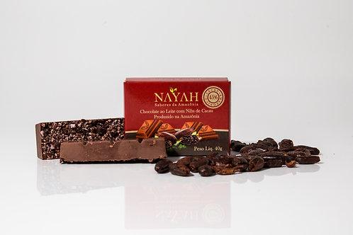 Chocolate Fino ao Leite 45% Cacau com Nibs (40g)