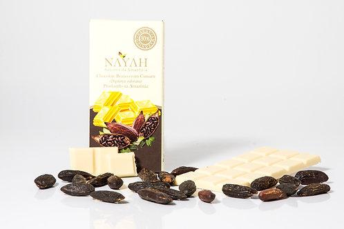 Chocolate Fino Branco 30% Cacau com Cumaru (50g)