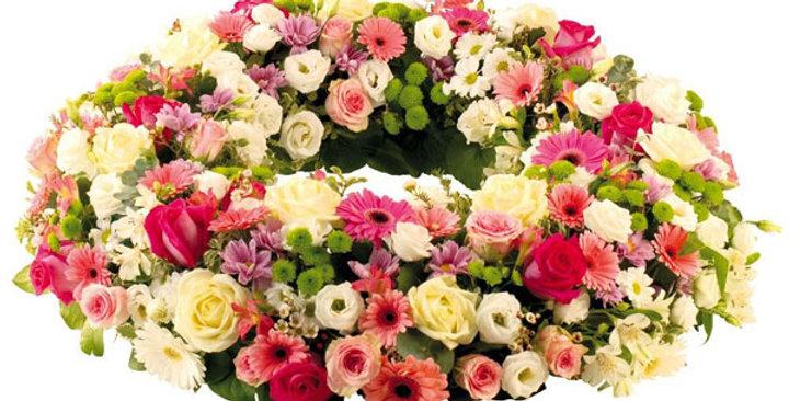 Couronne toute en fleurs