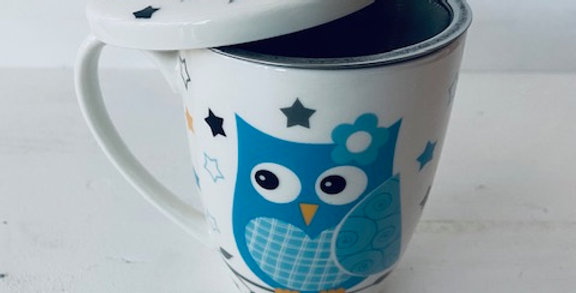 Tasse Mug Hiboux avec passoire à thé