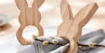 Porte-serviette lapin en bois