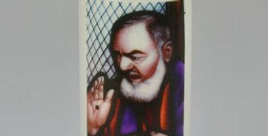 Bougie de cimetière 'Saint Padre Pio'