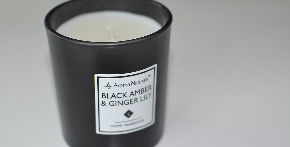 Bougie Black Amber& Ginger Lily