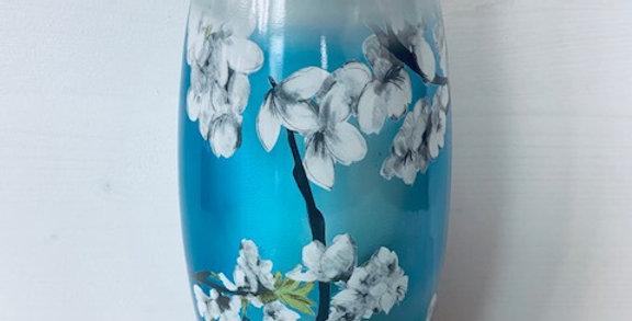 Lanterne de cimetière 'Bolsius fleurs de cerisier bleu'