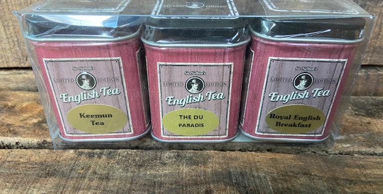 3 boîtes de thé assorti en mélange English Tea