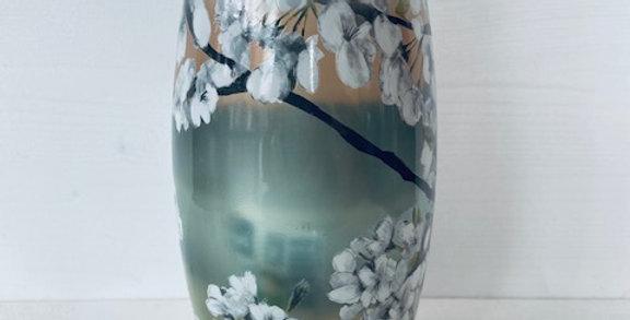 Lanterne de cimetière 'Bolsius fleurs de cerisier clair pastel'