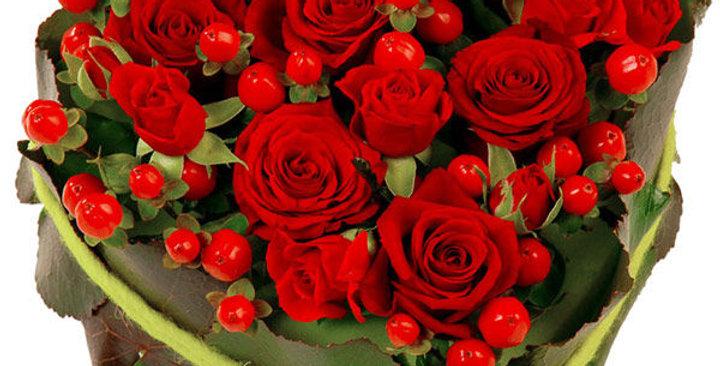 Mon coeur pour toi l'âme en rouge