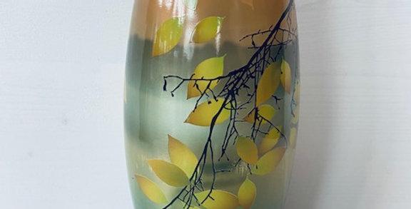 Lanterne de cimetière 'Bolsius feuilles clair pastel'