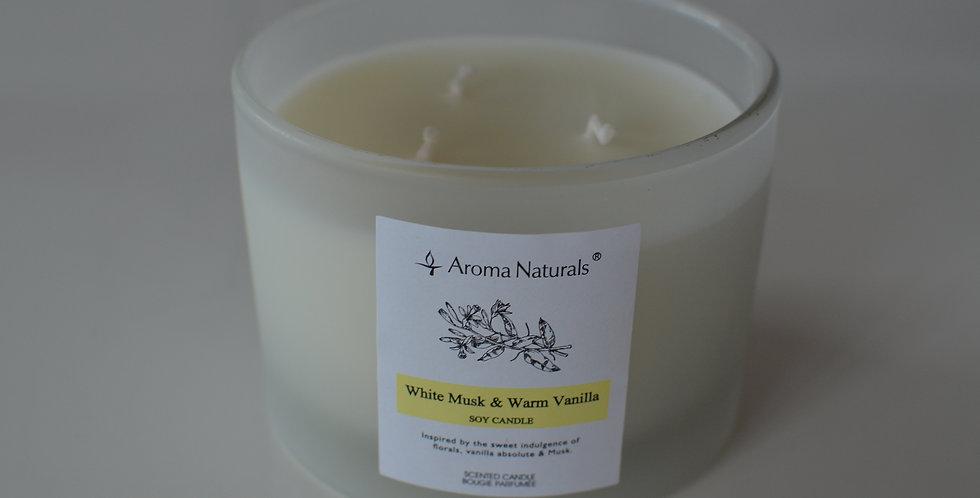 Bougie parfumée vanille et musk blanc