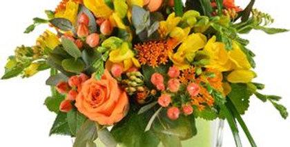 Cube coloré fleurs de saison
