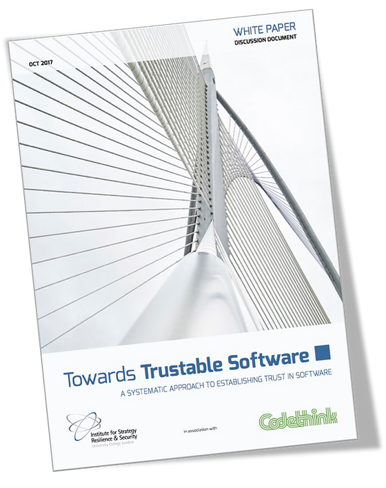 Towards Trustable Software