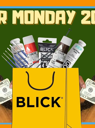 What I'm Buying: Cyber Monday Art Supply Haul (video + transcript)