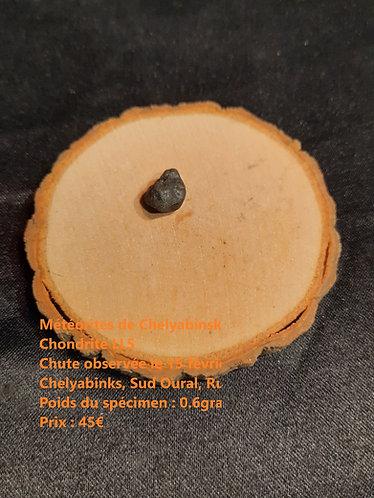 Météorite de Chelyabinsk Espèce : Chondrite LL5 Chute observée le 15 février 2013 à 9h20Localité : Chelyabinsk, sud Oural, Ru