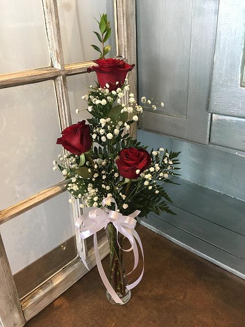3 Rose Arrangment