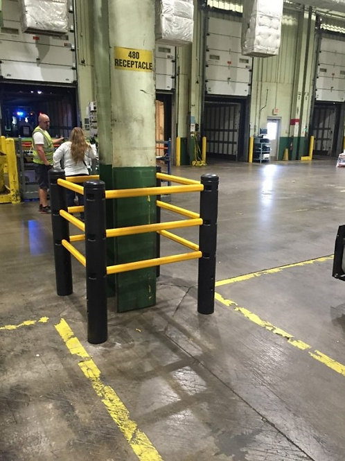 High Level Column Guard: Guardrail Column Protection