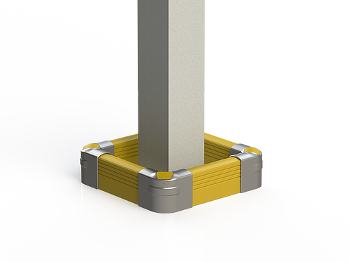Low Level Column Guard: Floor - Mounted Barrier System