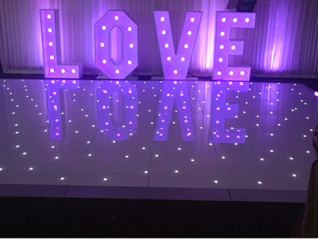 Starlit Dance floor Hire Aberdeen Weddings