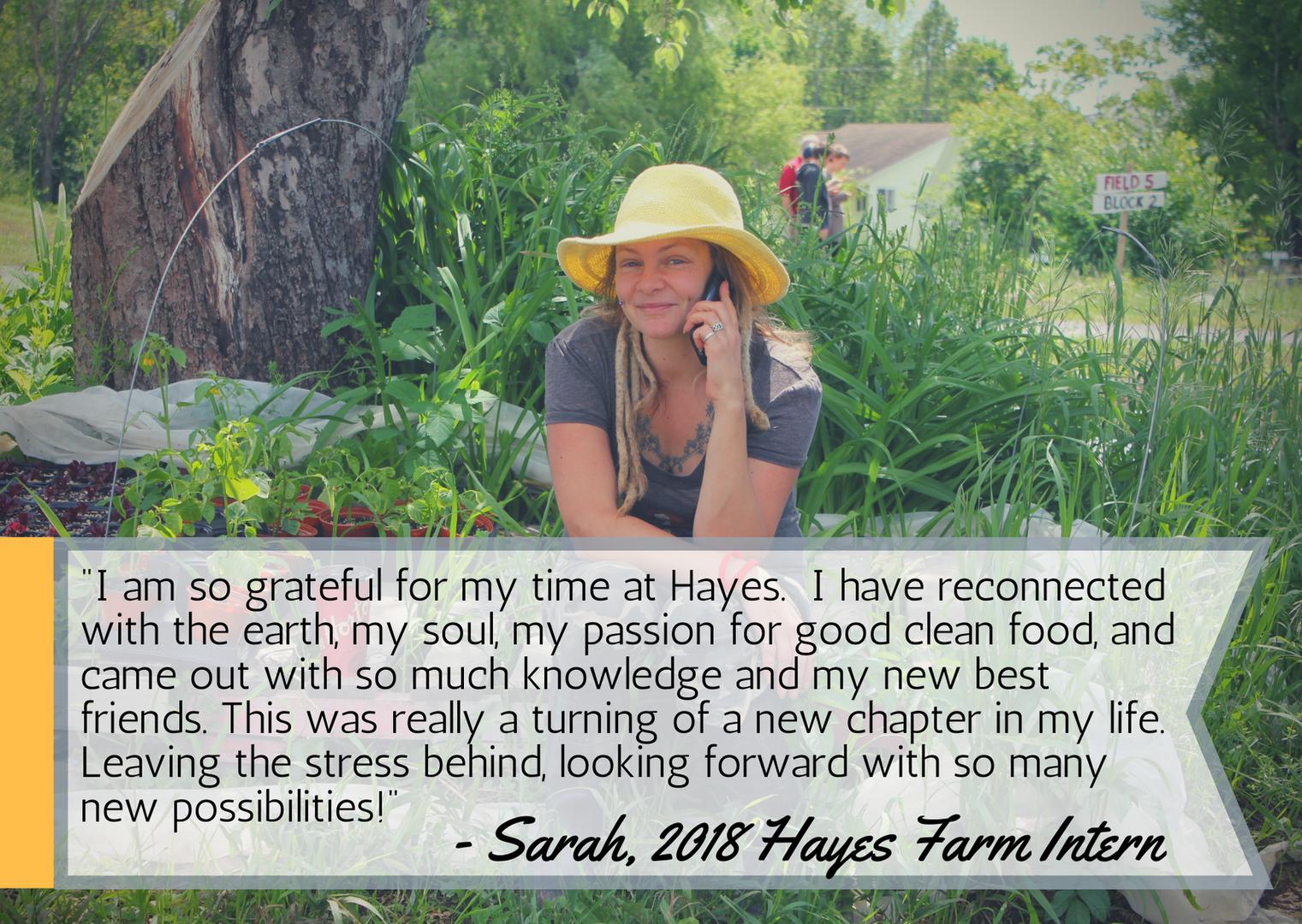 Sarah's testimonial