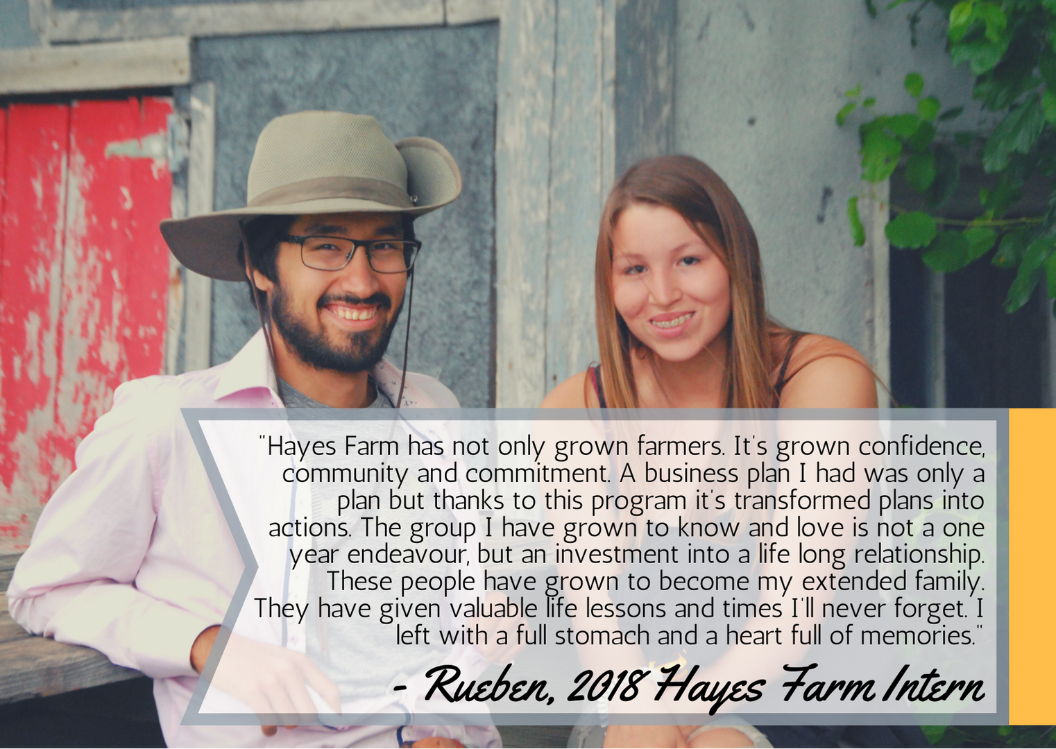 Rueben's testimonial