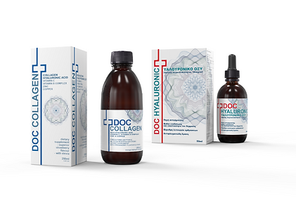 Doc Collagen, Doc AloeVera, Doc Hydralyte. Doc Hyaluronic,