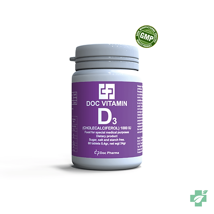 Doc Vitamin D3 1000 IU– 60 таблети