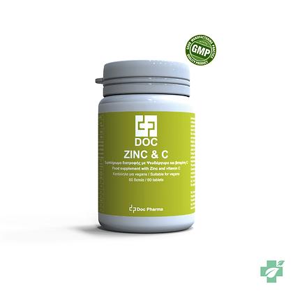 Doc Zinc  & Vitamin C -  60 таблети