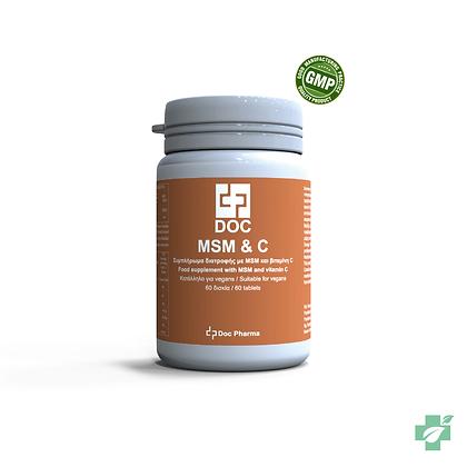 Doс MSM & Vitamin C – 60 таблети