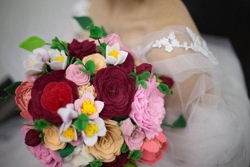 Felt bridal bouquet