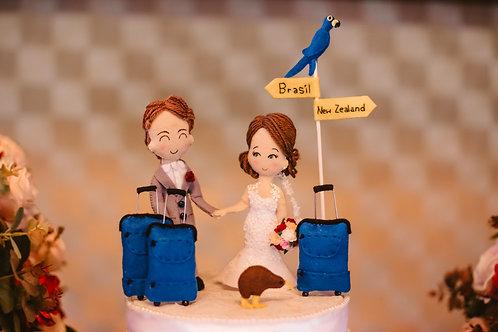 Realistic couple custom cake topper