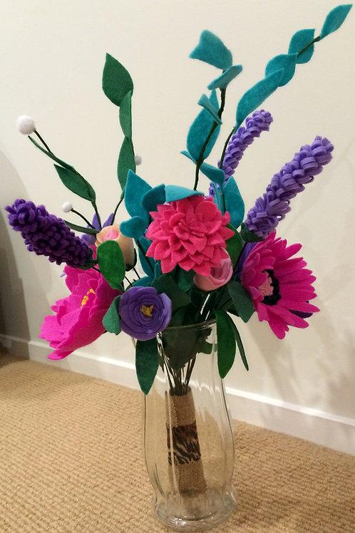Felt flower bouquet Susan