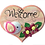 "Thumbnail: ""Welcome"" wooden hanging décor piece"