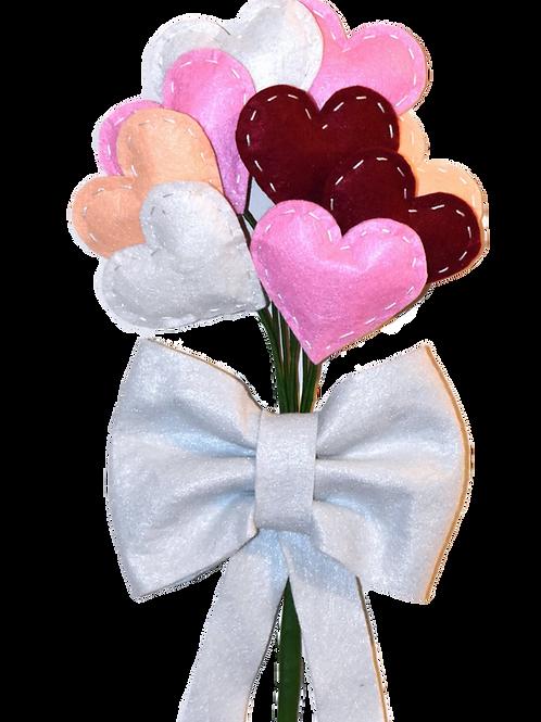 Felt Heart Bouquet