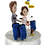 Thumbnail: Realistic couple custom cake topper